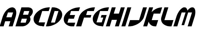 Datacut Italic Font UPPERCASE