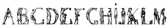 DaumierComique1836 Font UPPERCASE