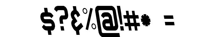 Daville Condensed Rev Slanted Font OTHER CHARS