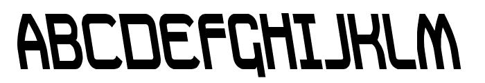Daville Condensed Rev Slanted Font UPPERCASE