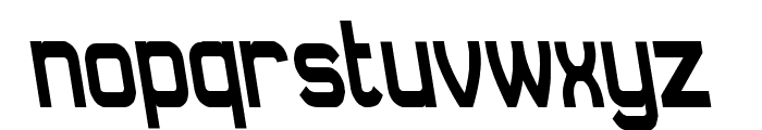 Daville Condensed Rev Slanted Font LOWERCASE