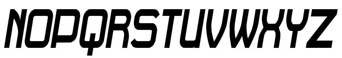 Daville Condensed Slanted Font UPPERCASE