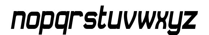 Daville Condensed Slanted Font LOWERCASE