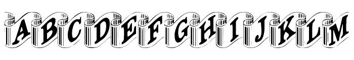 Davys-Ribbons Regular Font UPPERCASE