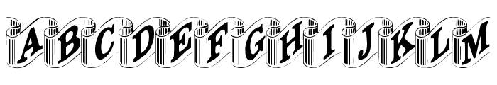 Davys-Ribbons Regular Font LOWERCASE