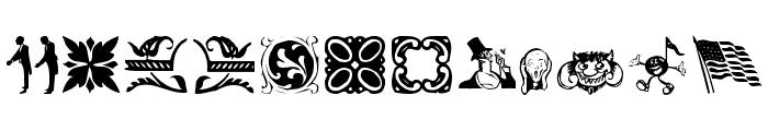 DavysDingbats Medium Font UPPERCASE