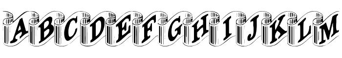 DavysRibbons Font UPPERCASE