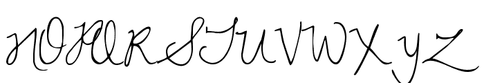Dawning of a New Day Font UPPERCASE