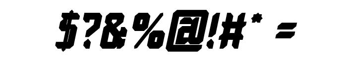 Dayak Shield Bold Italic Font OTHER CHARS