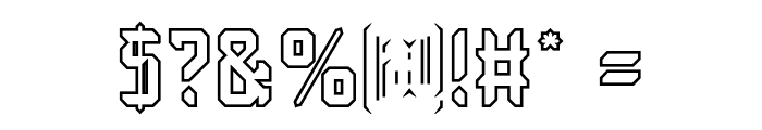 Dayak Shield-Hollow Font OTHER CHARS