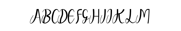 dahlia Font UPPERCASE