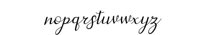 dahliaScript-Italic Font LOWERCASE
