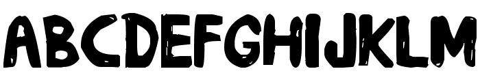 daub Font LOWERCASE