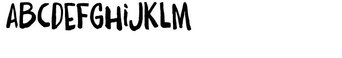 Daft Brush Regular Font LOWERCASE