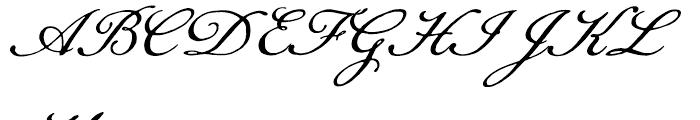 Daisy Lau Regular Font UPPERCASE