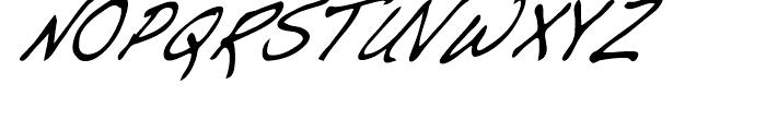 Dakota Demi Condensed Italic Font UPPERCASE