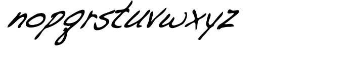 Dakota Demi Condensed Italic Font LOWERCASE