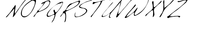 Dakota Light Condensed Italic Font UPPERCASE