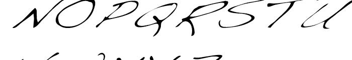 Dakota Light Extended Italic Font UPPERCASE