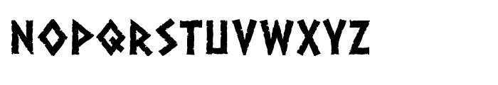 Dalek Heavy Font LOWERCASE