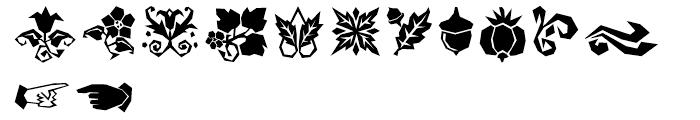 Damosel Dingbats Font LOWERCASE