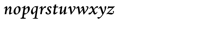 Dante Medium Italic Font LOWERCASE