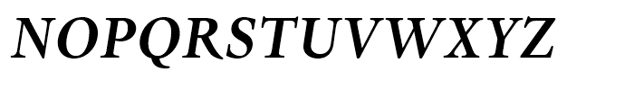 Dante eText Bold Italic Font UPPERCASE