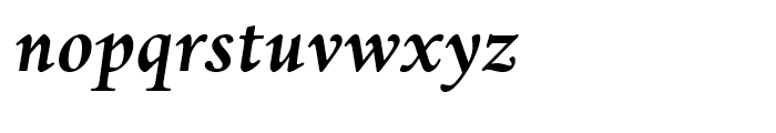 Dante eText Bold Italic Font LOWERCASE
