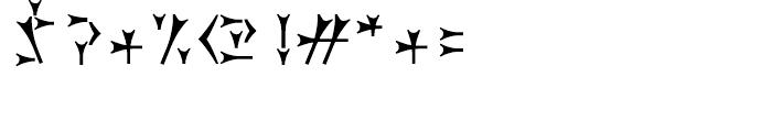 Dareios Regular Font OTHER CHARS