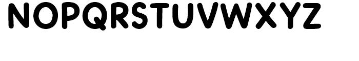 Dash To School Heavy Font UPPERCASE