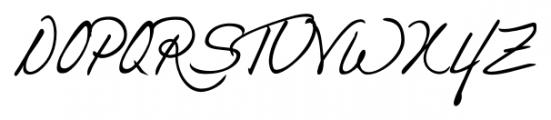 Danielle Handwriting Regular Font UPPERCASE