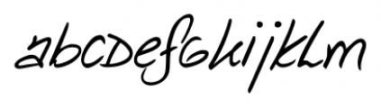 Danielle Handwriting Regular Font LOWERCASE