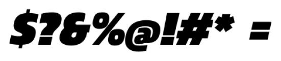 Danos Black Italic Font OTHER CHARS