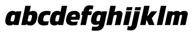 Danos Bold Italic Font LOWERCASE