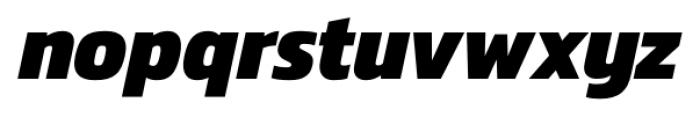 Danos ExtraBold Italic Font LOWERCASE