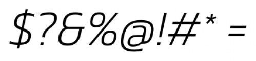 Danos ExtraLight Italic Font OTHER CHARS