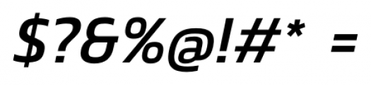 Danos Italic Font OTHER CHARS