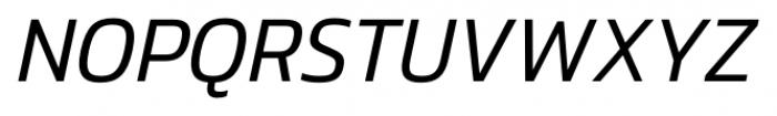 Danos Light Italic Font UPPERCASE