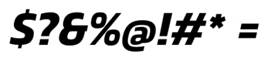 Danos SemiBold Italic Font OTHER CHARS