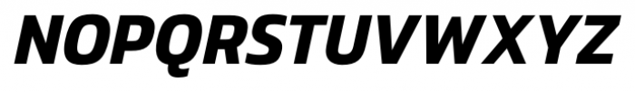 Danos SemiBold Italic Font UPPERCASE