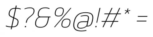 Danos Thin Italic Font OTHER CHARS