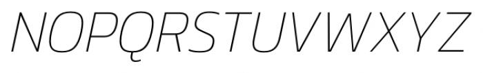 Danos Thin Italic Font UPPERCASE