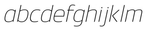 Danos Thin Italic Font LOWERCASE