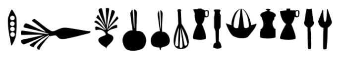 Dans Le Cuisine Regular Font UPPERCASE
