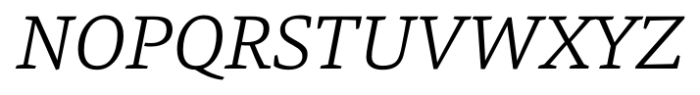 Danton Light Italic Font UPPERCASE