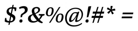 Danton Medium Italic Font OTHER CHARS