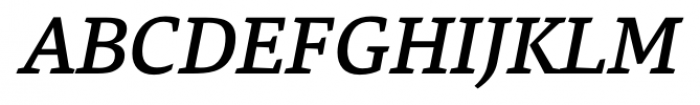 Danton Medium Italic Font UPPERCASE
