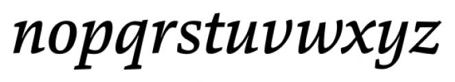 Danton Medium Italic Font LOWERCASE