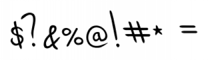 Dario Handwriting Regular Font OTHER CHARS