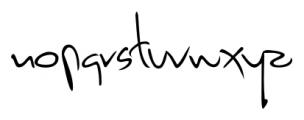 Dario Handwriting Regular Font LOWERCASE